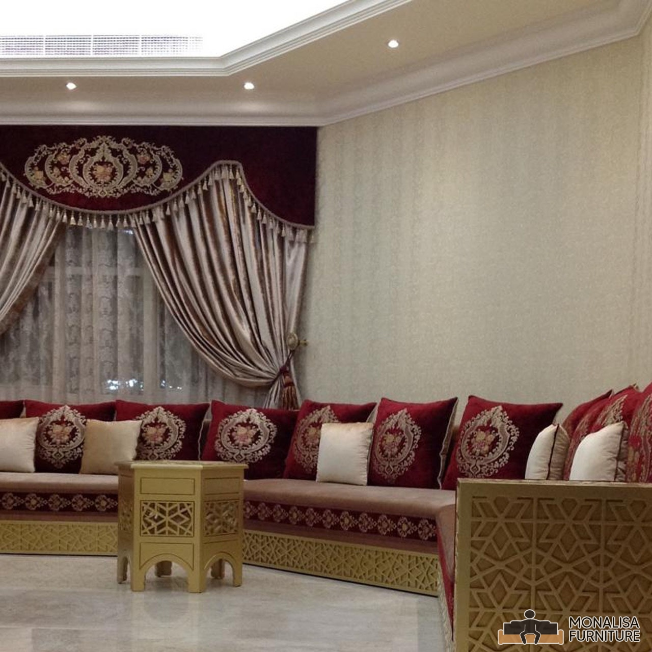 Moroccan Jalsa Wooden Gold