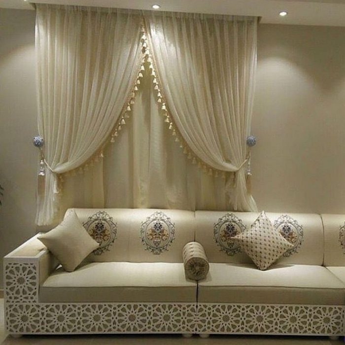 Moroccan Jalsa Wooden White