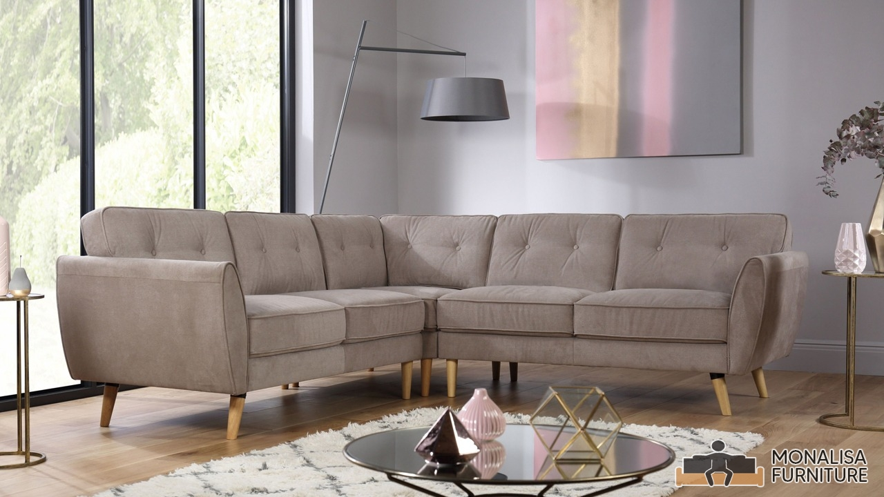 Brown Corner Sofa Set