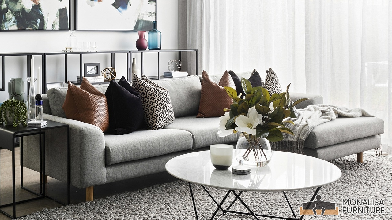Grey Corner Sofa Set