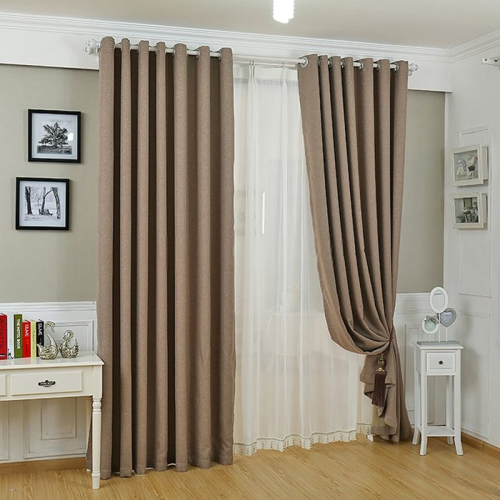 Modern Curtain Pair Cumin 200×275cm