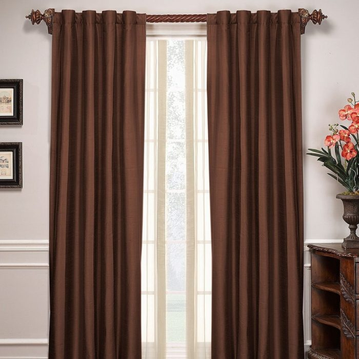 Kerala Curtain Pair Brown 200×275cm