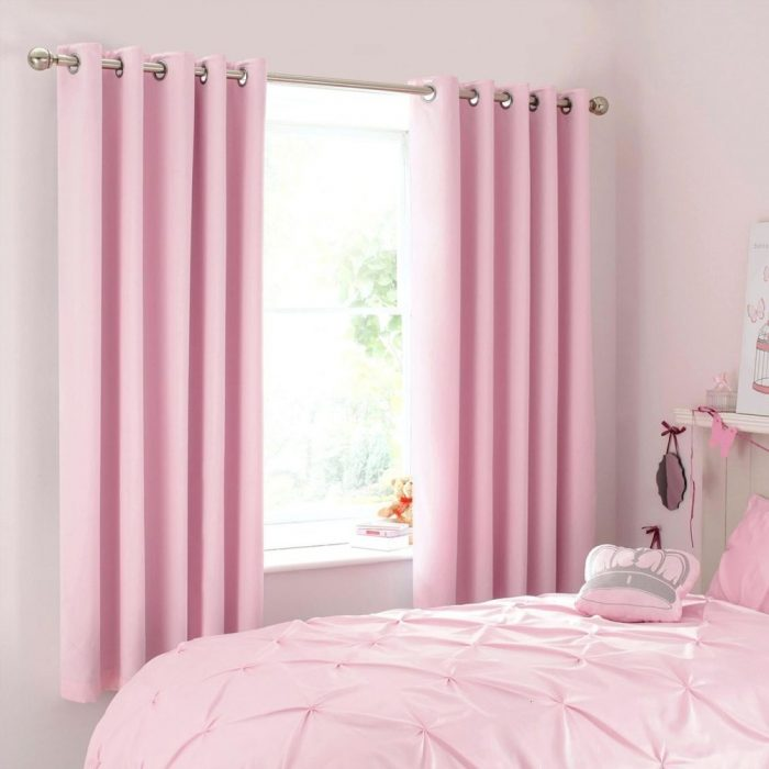 Modern Curtain Pair Pink 200×275cm