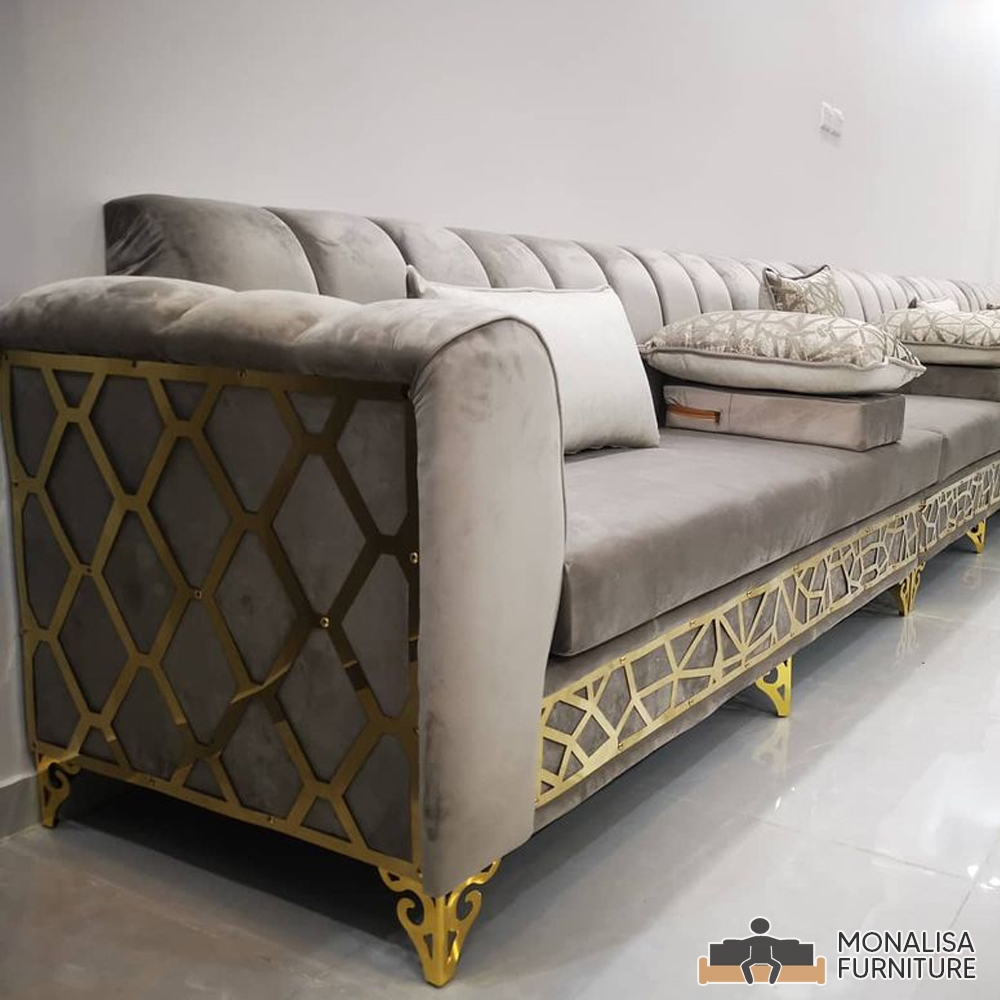 Moroccan Jalsa Gold & Grey